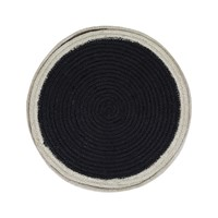 The Braided Rug Company Placemats Set Of 6 Black White