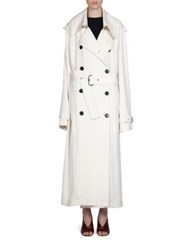 Acne Studios Double Breasted Trench Coat Ivory White