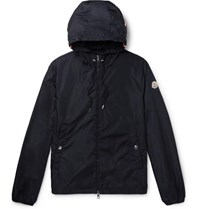 Moncler Grimpeurs Stripe Trimmed Nylon Hooded Jacket Navy