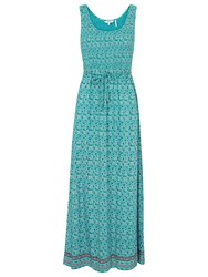 Fat Face Freya Coastal Floral Maxi Dress Eucalyptus
