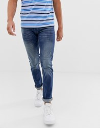 Solid Slim Fit Jean Medium Wash Blue