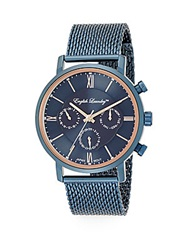 English Laundry Navy Stainless Steel Mesh Bracelet Watch