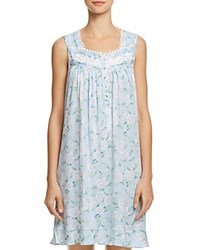Eileen West Floral Knit Short Gown Blue