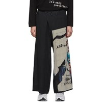 Yohji Yamamoto Black Classic No Visitors Trousers