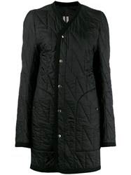Rick Owens Quilted Fitted Coat Black