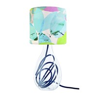 Anna Jacobs Falling Leaves In Summer Lampshade Blue