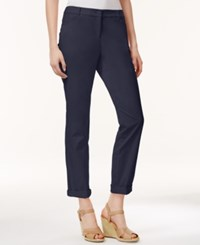 Charter Club Petite Slim Fit Rolled Chino Pants Only At Macy's