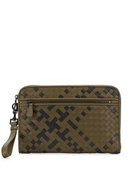 Bottega Veneta Intrecciato Mini Document Case Green