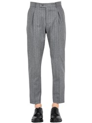 Berwich Striped Wool Pants