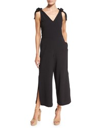 See By Chloe Sleeveless Stretch Crepe Jumpsuit Black