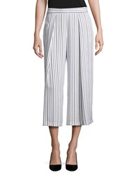 Lord And Taylor Striped Culottes White