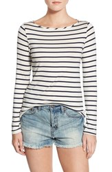 Women's Amour Vert 'Francoise' Nautical Long Sleeve Top Marine Stripe