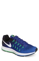 Nike Men's 'Air Zoom Pegasus 33' Sneaker Blue White Deep Night Black