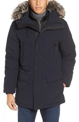 Michael Kors Men's Faux Fur Trim Down And Feather Fill Parka Midnight