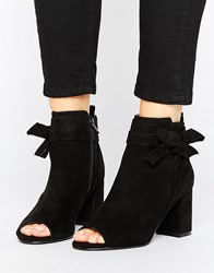 Asos Reunion Bow Ankle Boots Black