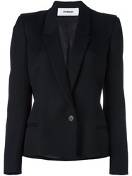 Chalayan Signature Fitted Jacket Viscose Polyester Virgin Wool Black