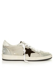 Golden Goose Ball Star Low Top Cord Trainers Grey Multi