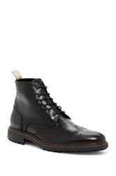 Rush By Gordon Rush Wingtip Lace Up Boot Black