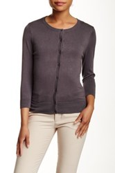 Susina 3 4 Length Sleeve Cardigan Petite Gray