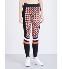 P.E Nation Defender Stretch Jersey Leggings Red
