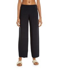 Magicsuit Cabana Jersey Straight Leg Coverup Pants Black