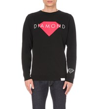 Diamond Supply Co. Logo Print Sweatshirt Black