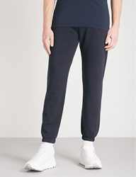 Napapijri Maray Logo Print Cotton Jersey Jogging Bottoms Blue Marine