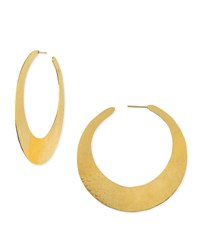 Herve Van Der Straeten Epure 24K Gold Plated Flat Hoop Earrings