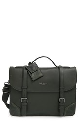Men's Ted Baker London Leather Briefcase Green