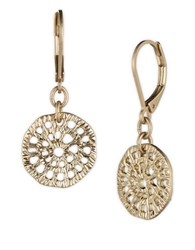 Lonna And Lilly Disc Drop Earrings Gold