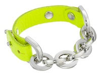 Gypsy Soule Leather Chain Bracelet Neon Green Bracelet