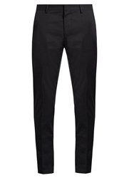 Lanvin Contrast Trim Cotton Chino Trousers Navy