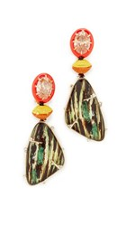 Alexis Bittar Dangling Woodgrain Earrings Wood Multi