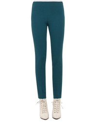 Akris Melissa Wool Blend Skinny Pants Seabiscuit Teal