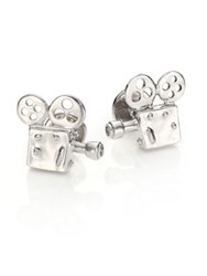Robin Rotenier Movie Projector Cuff Links Silver