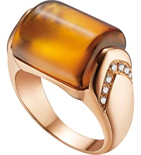 Bulgari Mvsa 18Ct Pink Gold And Diamond Ring
