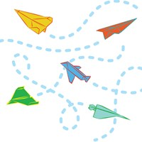 Wallcandy Paper Airplanes Wall Decals