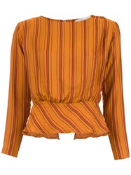 Lilly Sarti Basque Jolie Blouse Yellow And Orange