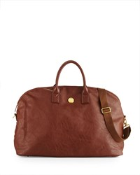 Anna Griffin Faux Leather Large Duffel Bag Brown