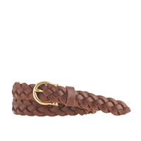 J.Crew Braided Leather Belt Burnished Tan