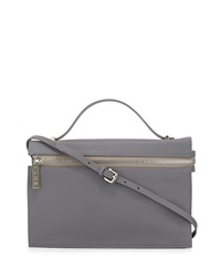 L.A.M.B. Dolley Leather Shoulder Bag Gray