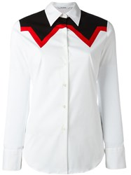 Neil Barrett Paneled Shirt White