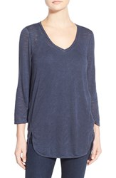 Women's Gibson V Neck Knit Tunic Ink