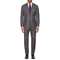 Kiton Kb Wool Two Button Suit Gray