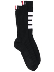 Thom Browne 4 Bar Baby Cable Socks Black