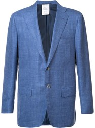 Kiton Flap Pocket Blazer Blue