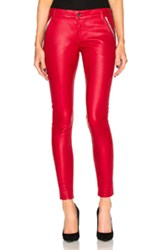 Rta Lucy Leather Pants In Red