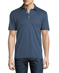 Culturata Cotton Polo Shirt Blue
