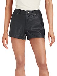 Bb Dakota Aime Faux Leather Shorts Black
