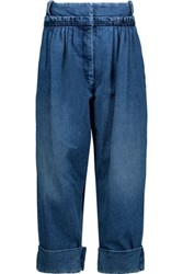 J.W.Anderson Pleated Wide Leg Jeans Mid Denim